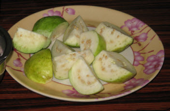 Guavas from our garden
