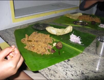 Restaurant Vazhai in Madurai . . . yum