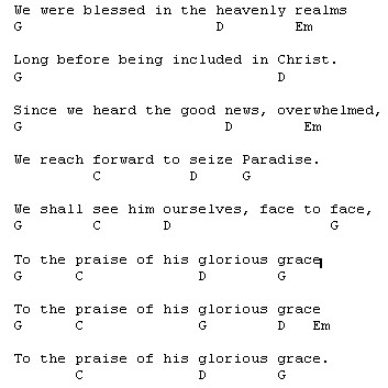 Piano piano chords of forevermore : To the praise of His glorious grace | Courage to tremble